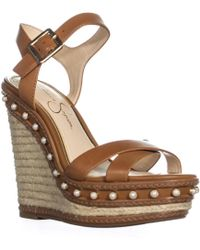 Jessica Simpson - Aeralin Wedge Slingback Sandals - Lyst
