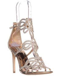 Badgley Mischka - Teri Rhinestone T-strap Sandals - Lyst