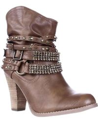 Not Rated - Swalini Multi Studded Straps Ankle Boots - Lyst