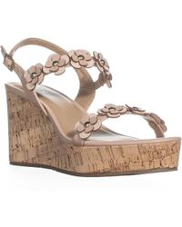Esprit - Vinnie Floral Buckle Wedge Sandals - Lyst