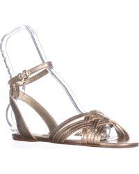 d097d52b321 COACH - Summers Ankle Strap Slide Sandals - Lyst