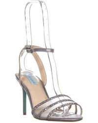 Betsey Johnson - Blue Veda Ankle Strap Sandals - Lyst