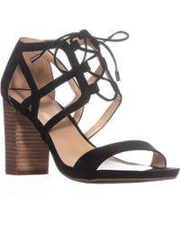 Franco Sarto - Jewel Lace-up Heeled Sandals - Lyst