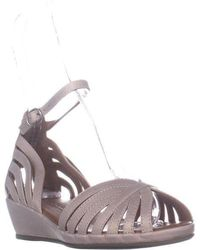 Gentle Souls - Leah Ankle Strap Wedge Sandals - Lyst