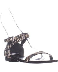 2a4d129e1598 Lauren by Ralph Lauren - Lauren Ralph Lauren Davison Ankle Strap Flat  Sandals - Lyst