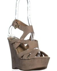 Guess - G Hizza Strappy Ankle Strap Wedge Sandals - Lyst