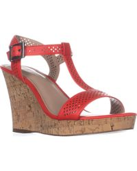 Charles David - Charles Charles David Law Platform Wedge Sandals - Lyst