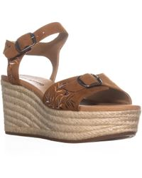 Lucky Brand - Naveah Wedge Buckle Sandals - Lyst