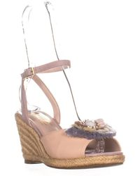Nanette Lepore - Queen Ankle Strap Wedge Sandals - Lyst