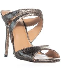 8d0ead3df83 Halston - Brittany Strappy Mule Sandals - Lyst