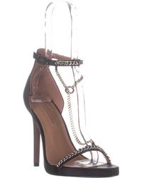 BCBGMAXAZRIA - Ella Chain T-strap Sandals - Lyst