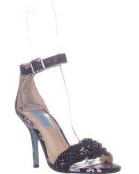 376aff5593d4 Betsey Johnson - Gina Embellished Ankle Strap Dress Sandals - Lyst