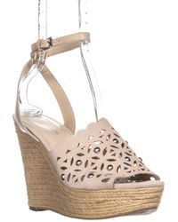 Marc Fisher - Hata Ankle Strap Wedge Sandals - Lyst