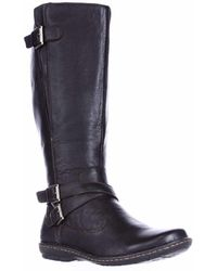 Born - B.o.c. Concept Barbana Wide Calf Riding Boots - Dark Brown - Lyst
