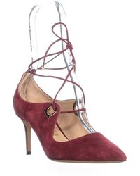 Ferragamo - Fido Pointed Toe Lace Up Court Shoes - Lyst