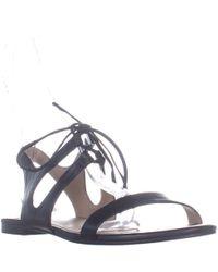 fa7efdbdc Pour La Victoire - Pour La Victorie Lacey Strappy Lace Up Flat Sandals -  Lyst