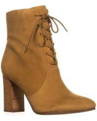 Marc Fisher - Edina Lace Up Booties - Lyst