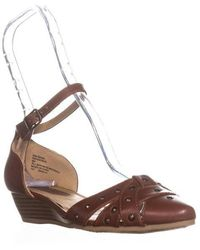 Rialto - Mya Ankle Strap Low-heel Wedges - Lyst