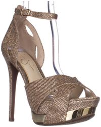 Jessica Simpson - Wendah Platform Ankle Strap Court Shoes - Lyst
