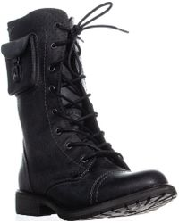 Roxy - Seattle Iv Lace Up Combat Boots - Lyst