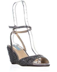 Betsey Johnson - Blue By Sb-elora Ankle Strap Wedge Sandals - Lyst