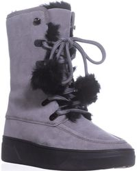 Michael Kors - Michael Juno Lace Up Lined Snow Boots - Lyst