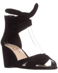 1fe79285a3da Jessica Simpson - Cyrena Ankle Strap Wedge Sandals - Lyst