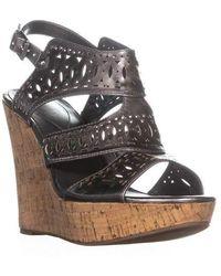 Guess - Vannora Wedge Ankle Strap Wedge Heels - Lyst