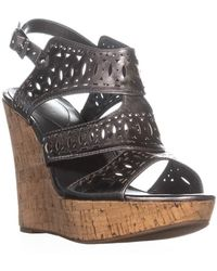 Guess - Vannora Wedge Ankle Strap Wedge Heels - Lyst