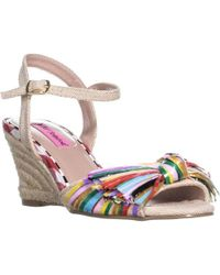 Betsey Johnson - Lizzie Knot Wedge Sandals - Lyst