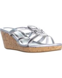 Cole Haan - Shayla Thong Wedge Sandals - Lyst