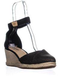 01b52a3ad Sperry Top-Sider - Valencia Canvas Espadrille Wedge Sandals - Lyst