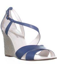 Enzo Angiolini - Vanda Ankle Strap Wedge Sandals - Lyst