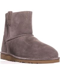 b03efe22877 Lyst - Ugg Classic Unlined Mini Perforated Suede Booties in Brown