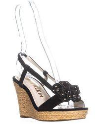 Anne Klein - Marigold Suede Wedge Sandals - Lyst