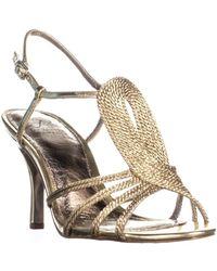Adrianna Papell - Megan Strappy Dress Sandals, Platino - Lyst
