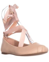 BCBGeneration - Talia Lace Up Ballet Flats - Lyst