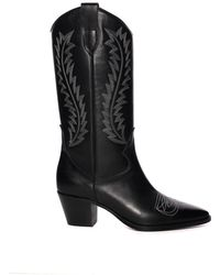 Paris Texas - Black Cowboy Boot - Lyst