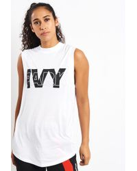 337f54b9d0c3c7 Lyst - Ivy Park Mesh Hooded Tank Top By in White