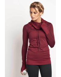 Under Armour - Ua Threadborne Seamless Funnel Neck Hooded Top - Lyst