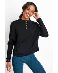 Beyond Yoga - Snap It Down Raglan Pullover - Lyst