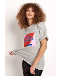 P.E Nation - The Punt Tee Grey Marl - Lyst