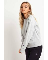 Champion - Crewneck Sweatshirt Grey - Lyst