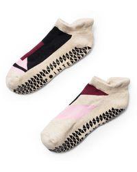 Pointe Studio - Linh Grip Sock- Oatmeal/black - Lyst