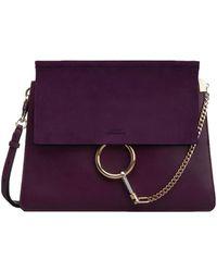 Chloé - Purple Faye Shoulder Bag - Lyst