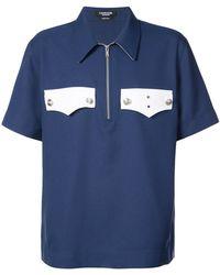 CALVIN KLEIN 205W39NYC - Half Zip Pocket Shirt - Lyst