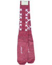Off-White c/o Virgil Abloh - Arrows Logo Knit Socks - Lyst