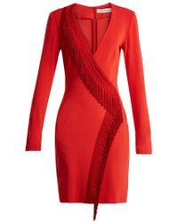 Galvan London - Wrap Fringe Detail Dress - Lyst