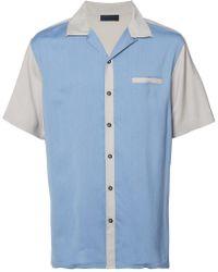 Lanvin - Two-tone Bowling Shirt - Lyst