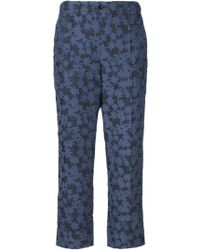 Julien David - Floral Cropped Trousers - Lyst